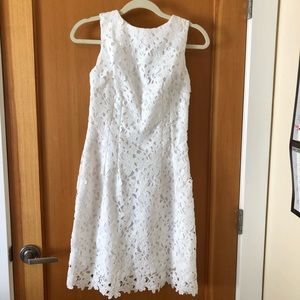 Beautiful white lace mini dress